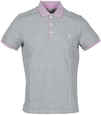 U.S. Polo Assn. Melange Gray Pique Cotton Men's Polo Shirt