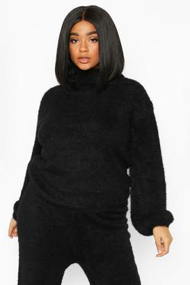 boohoo Plus Super Soft Knitted Roll Neck Jumper