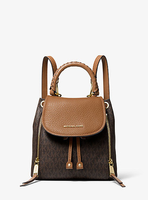 MICHAEL Michael Kors MK Viv Extra-Small Pebbled Leather Backpack - Vanilla/acorn - Michael Kors