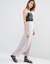 Warehouse Pleated Maxi Skirt