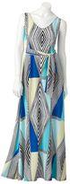 JLO by Jennifer Lopez geometric maxi dress