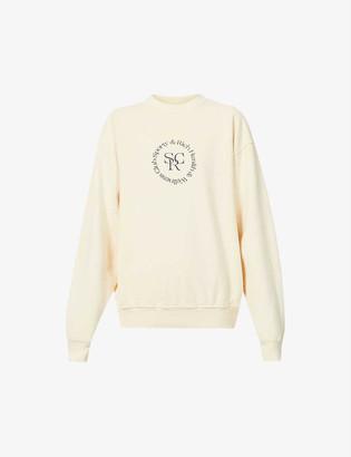 Sporty & Rich Health & Wellness Club-print cotton-jersey sweatshirt