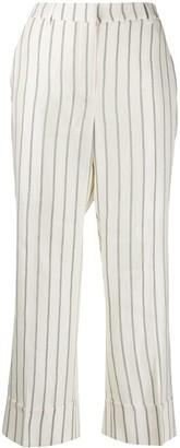 L'Autre Chose cropped striped print trousers
