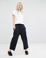 Weekday Wide Cropped Pin Stripe Pant