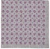 Brunello Cucinelli Men's Dot-Print Silk-Cotton Pocket Square