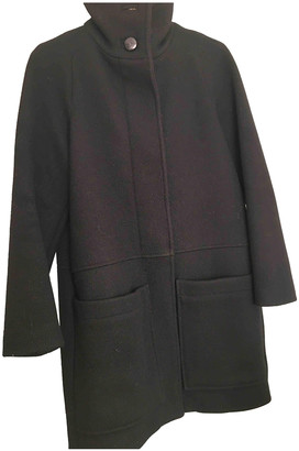 Sessun Black Wool Coats