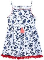 Lucky Brand Fringe Trim Floral Dress (Toddler Girls)