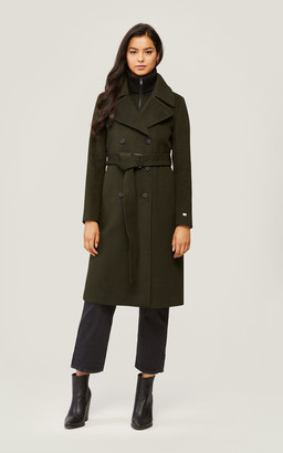 Soia & Kyo DAMARA classic wool coat with detachable bib and collar
