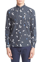 Saturdays Surf NYC Crosby Polka Dot Long Sleeve Trim Fit Shirt