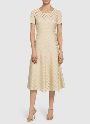 St. John Diagonal Float Pointelle Dress
