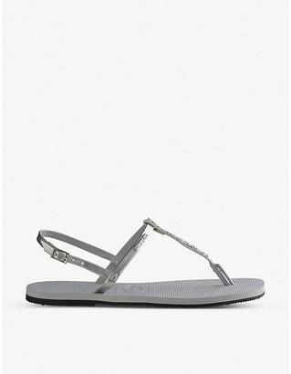 Havaianas You Riviera Swarovski crystal-embellished rubber sandals
