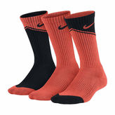 Nike 3-pk. Graphic Crew Socks- Boys