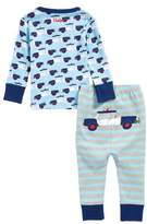 Hatley Cop Cars Organic Cotton Fitted Two-Piece Pajamas