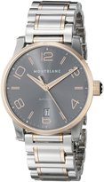 Montblanc Timewalker Date Automatic Men's Dial Steel Rose Gold Swiss Watch 106501
