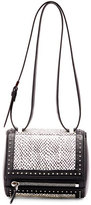 Givenchy Pandora Box Mini Snakeskin Shoulder Bag, Black/White