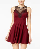 Material Girl Juniors' Lace-Panel Skater Dress