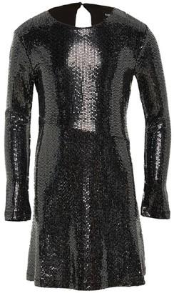 Bardot Junior Girl's Sugar Sugar Mini Mirror Sequin Asymmetric-Waist A-Line Dress