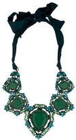 Lanvin Green Crystal Collar Necklace