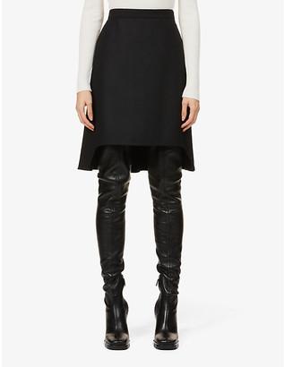 Alexander McQueen Swallow Tail high-waist wool mini skirt