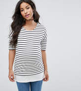 New Look Maternity Stripe Double Layer Top