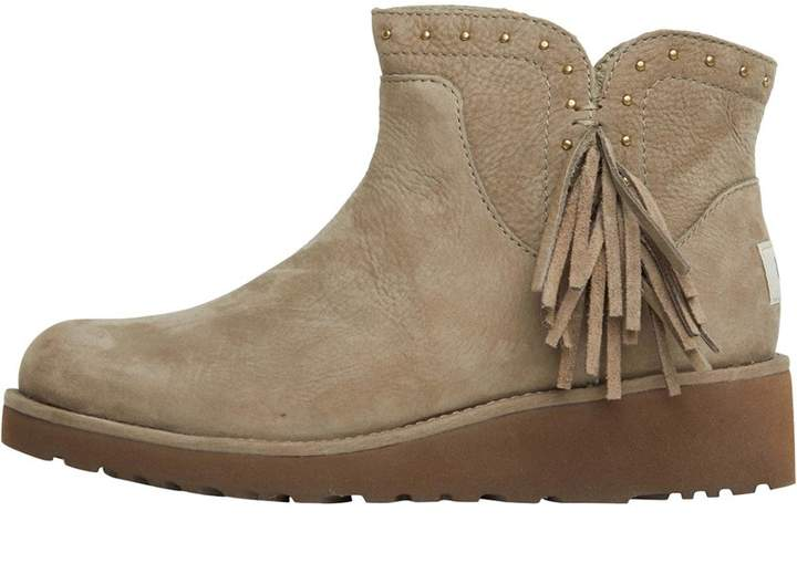40285a00755 Womens Cindy Fringed Ankle Boots Spruce