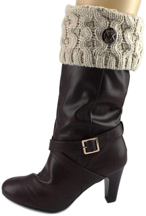 MICHAEL Michael Kors MK Cable Sock Women US S White Boot Socks