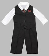 Starting Out Infant Black Striped Vest Set