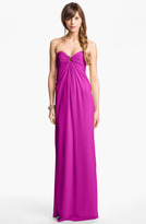 Laundry by Shelli Segal Strapless Chiffon Gown
