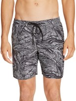 Saturdays Nyc Timothy Ripple Printed Swim Trunks