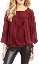 Levi's s Astrid Side-Tie 3/4 Sleeve Blouse