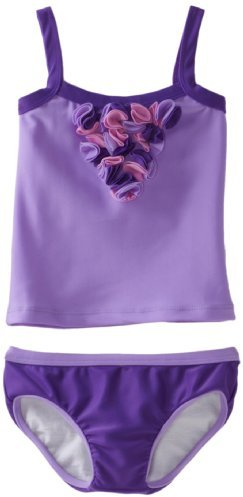Lemons And Limes Girls 2-6X Little Miss Purple Tankini