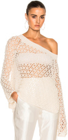 Jonathan Simkhai Cage Pearl Off Shoulder Top