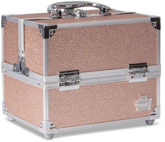 Caboodles Adored Rose Gold Four Tray Cosmetic Train Case