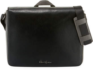 Robert Graham Textured Leather Messenger Bag