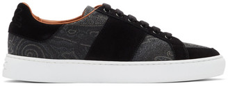 Etro Black Paisley Sneakers