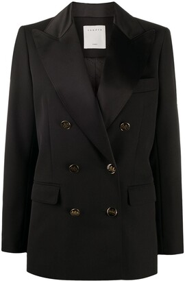Sandro Paris Double-Breasted Fitted Blazer