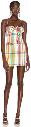 Area Crystal Sweetheart Mini Dress in Rainbow | FWRD