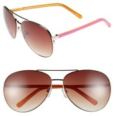 Lilly Pulitzer 'Finley' 65mm Aviator Sunglasses