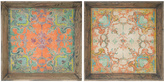 A&B Home Square Decorative Tray - Set of Two