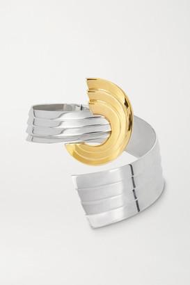 Leda Madera Meryl Palladium-plated And Gold-plated Cuff - Silver