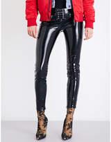 Unravel Ladies Innovative Skinny High-Rise Latex Trousers