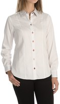 Foxcroft Fitted Solid Blouse - Long Sleeve (For Women)