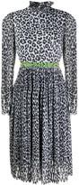 Halpern leopard print midi dress