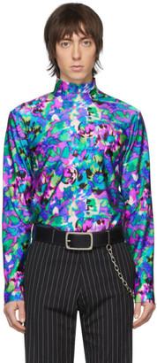 Dries Van Noten Multicolor Floral Mock Neck T-Shirt