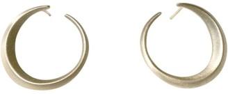 Crescent Moon Forward-Facing Hoop Earrings
