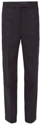 Ssōne Ssone - Metta Side Stripe Wool-blend Slim-leg Trousers - Navy
