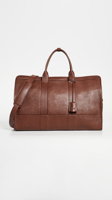 Lotuff Leather Duffle Travel Bag with Pocket