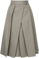 Jil Sander pleated front midi skirt