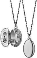 "Monica Rich Kosann Silver Midi 4-Image Locket Necklace, 32"""