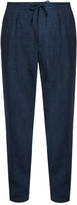 Ermenegildo Zegna Pleated-front Linen Straight-leg Trousers